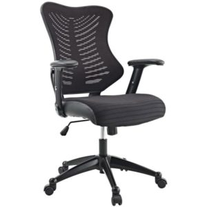 MI 6200 Black Mesh-Back Manager Task Chair with Adjustable Arms