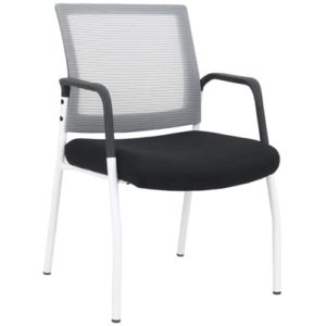 mi1500 White & Black Stacking Chair